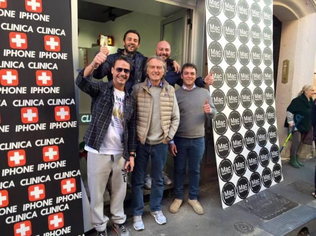 Inauguration CLINIC IPHONE MONTI, guest Luca Cordero di Montezemolo